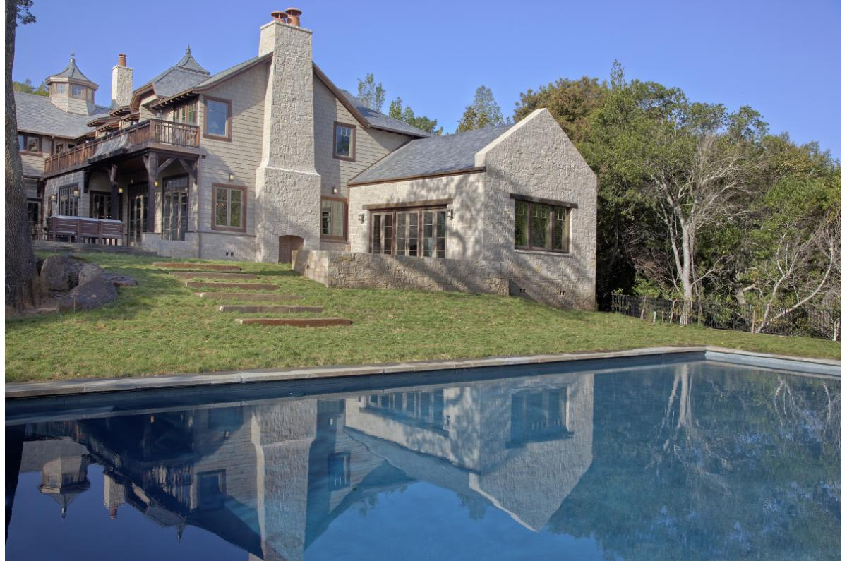 Polsky Perlstein Architects - <em>Edit New Homes Gallery</em> Kent Woodlands Shingle and Stone Country Estate