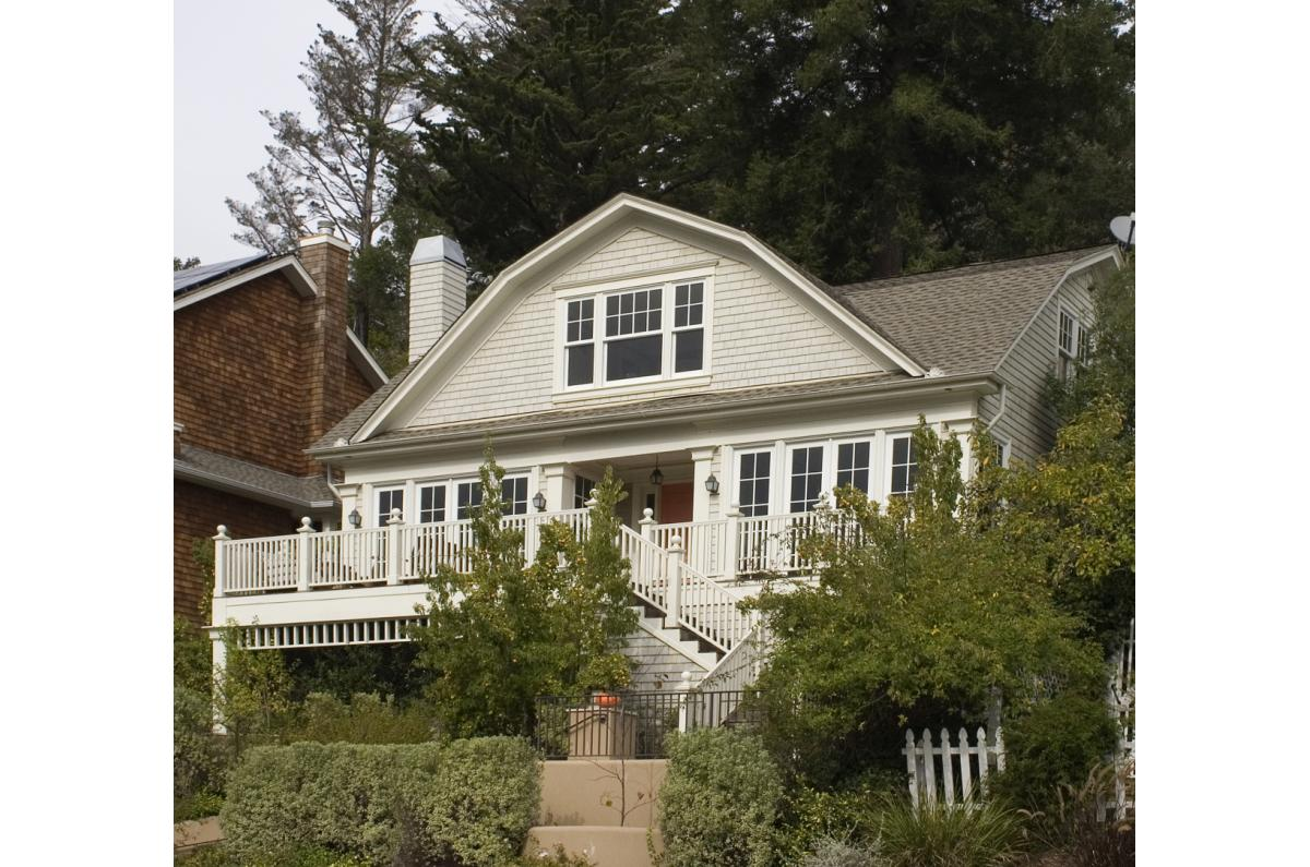 Polsky Perlstein Architects - <em>Edit Remodels &amp; Additions Gallery</em> Mill Valley Traditional Painted Shingle Remodel and Addition