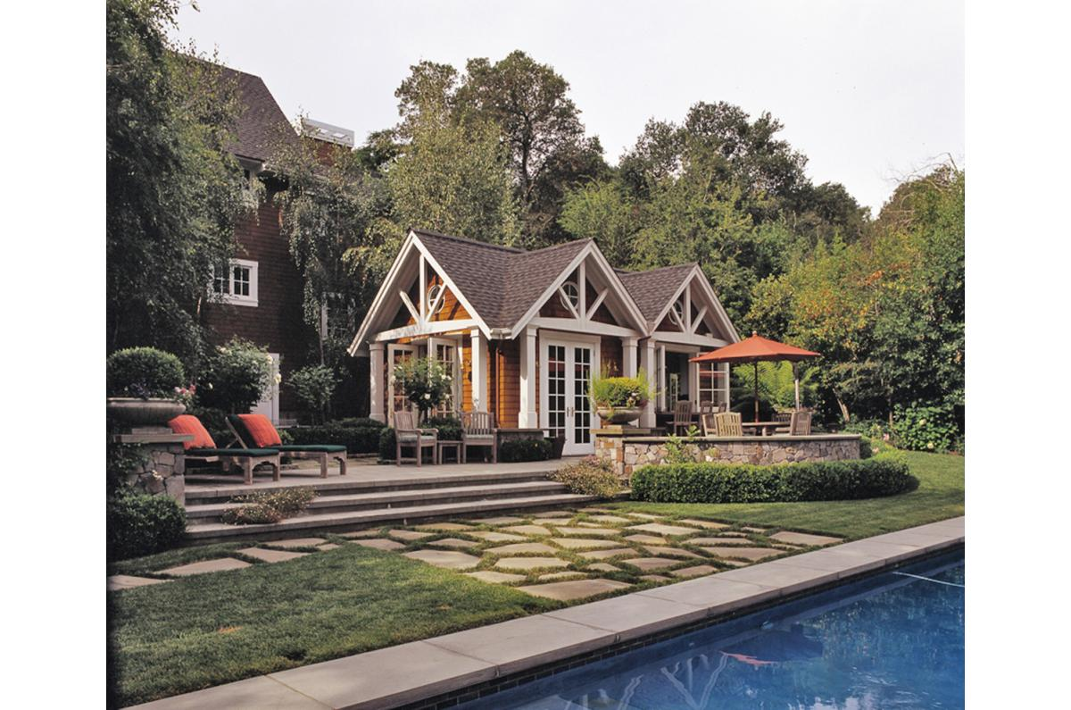 Polsky Perlstein Architects - <em>Edit Remodels &amp; Additions Gallery</em> Ross Estate Shingle Style Remodel and Addition, Poolhouse